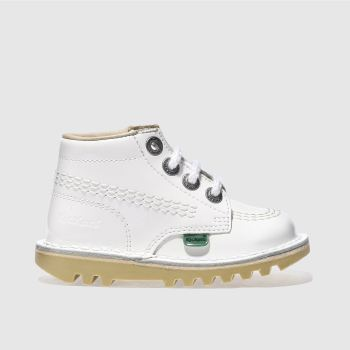 Kickers White KICK HI Girls Toddler