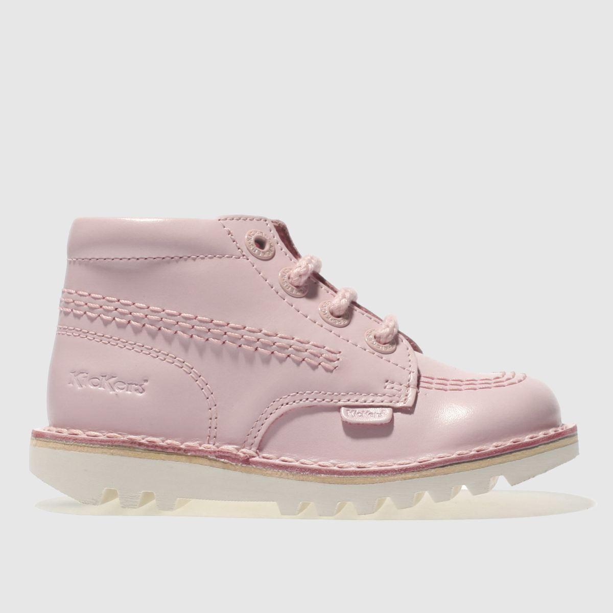 Kickers Pale Pink Kick Hi Girls Toddler Boots