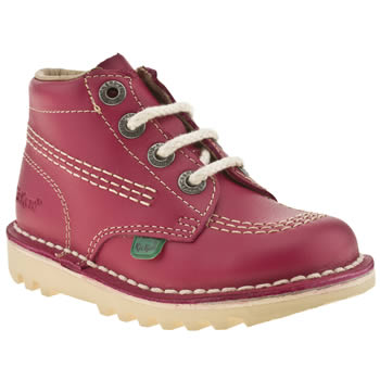 Kickers Pink Hi Girls Toddler