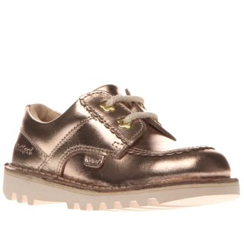 Kickers Rose Gold Kick Lo Leather Girls Toddler