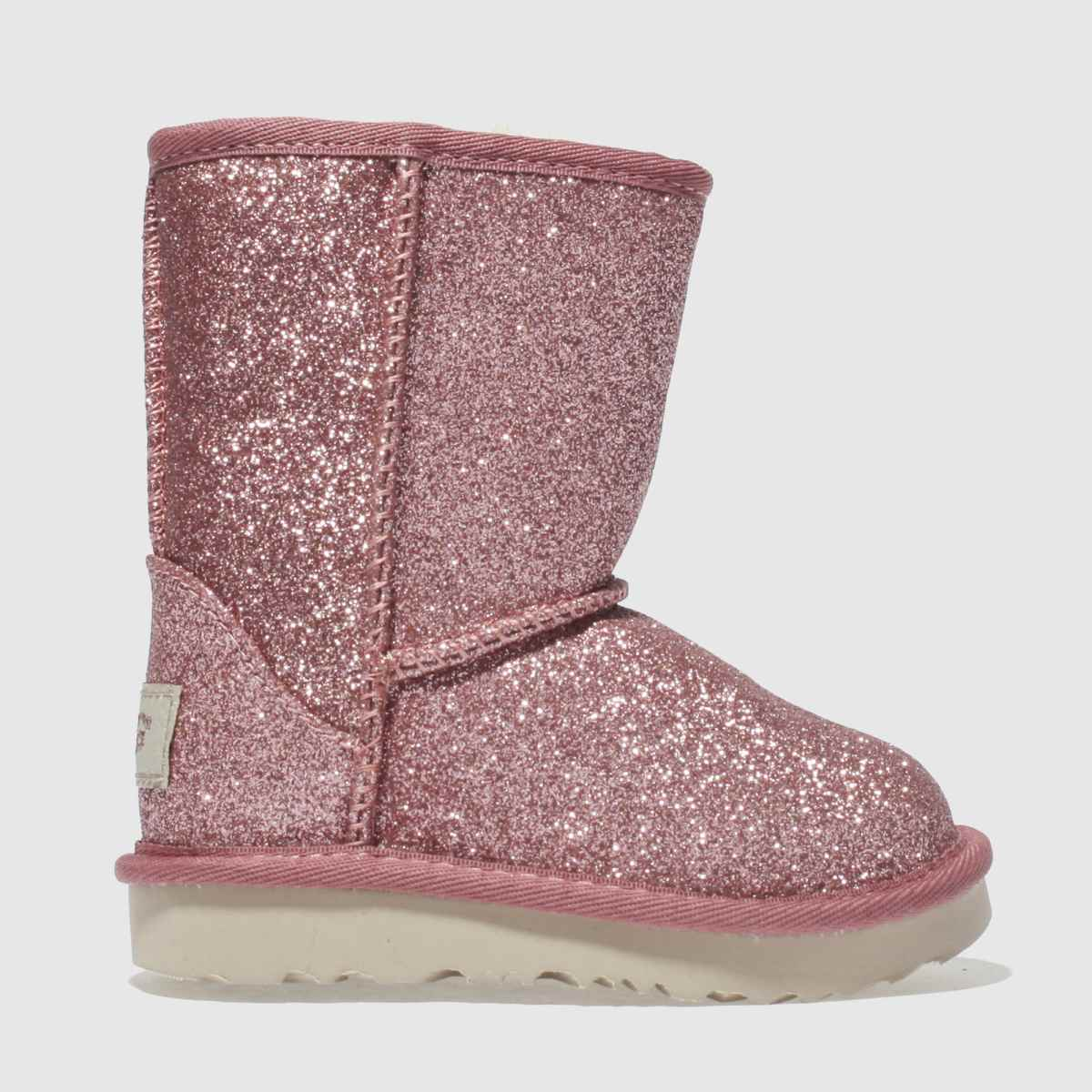 Ugg Pink Classic Short Ii Glitter Boots Toddler
