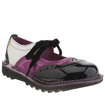 Girls Kickers Black & pink Broglace Girls Toddler