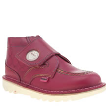 Kickers Pink Hi One Love Hearts Girls Toddler