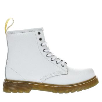 Dr Martens White Brooklee Pebbled Girls Toddler