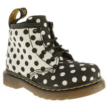 Toddler White & Black Dr Martens Brooklee