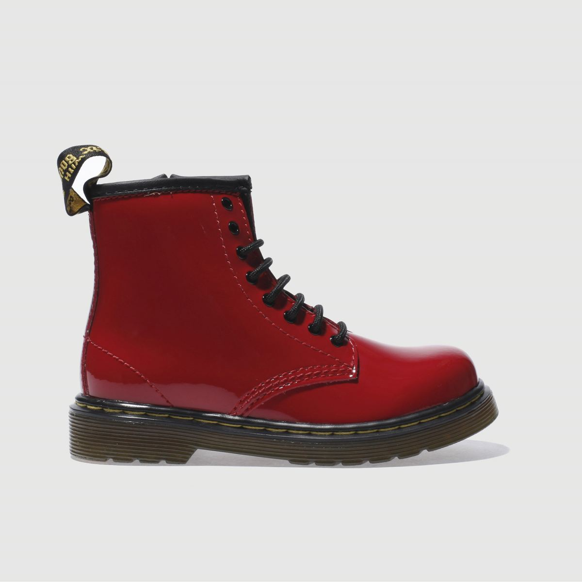 dr martens red brooklee patent Girls Toddler Boots