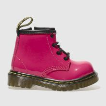 Toddler Pink Dr Martens Brooklee Boot Patent