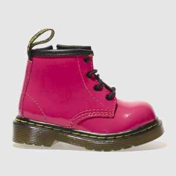 Girls Dr Martens Pink Brooklee Boot Patent Girls Toddler