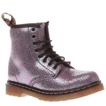 Dr Martens Purple Brooklee Sparkle Girls Toddler