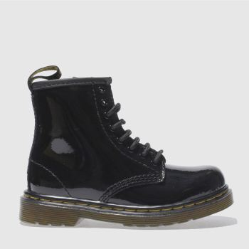 Girls Dr Martens Black Brooklee Boot Patent Girls Toddler