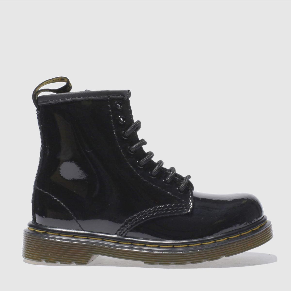 dr martens black brooklee patent Girls Toddler Boots