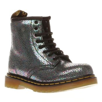 Dr Martens Silver Brooklee Sparkle Girls Toddler