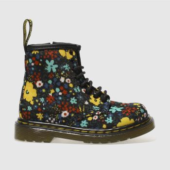 Dr Martens Black & Yellow BROOKLEE BOOT Girls Toddler