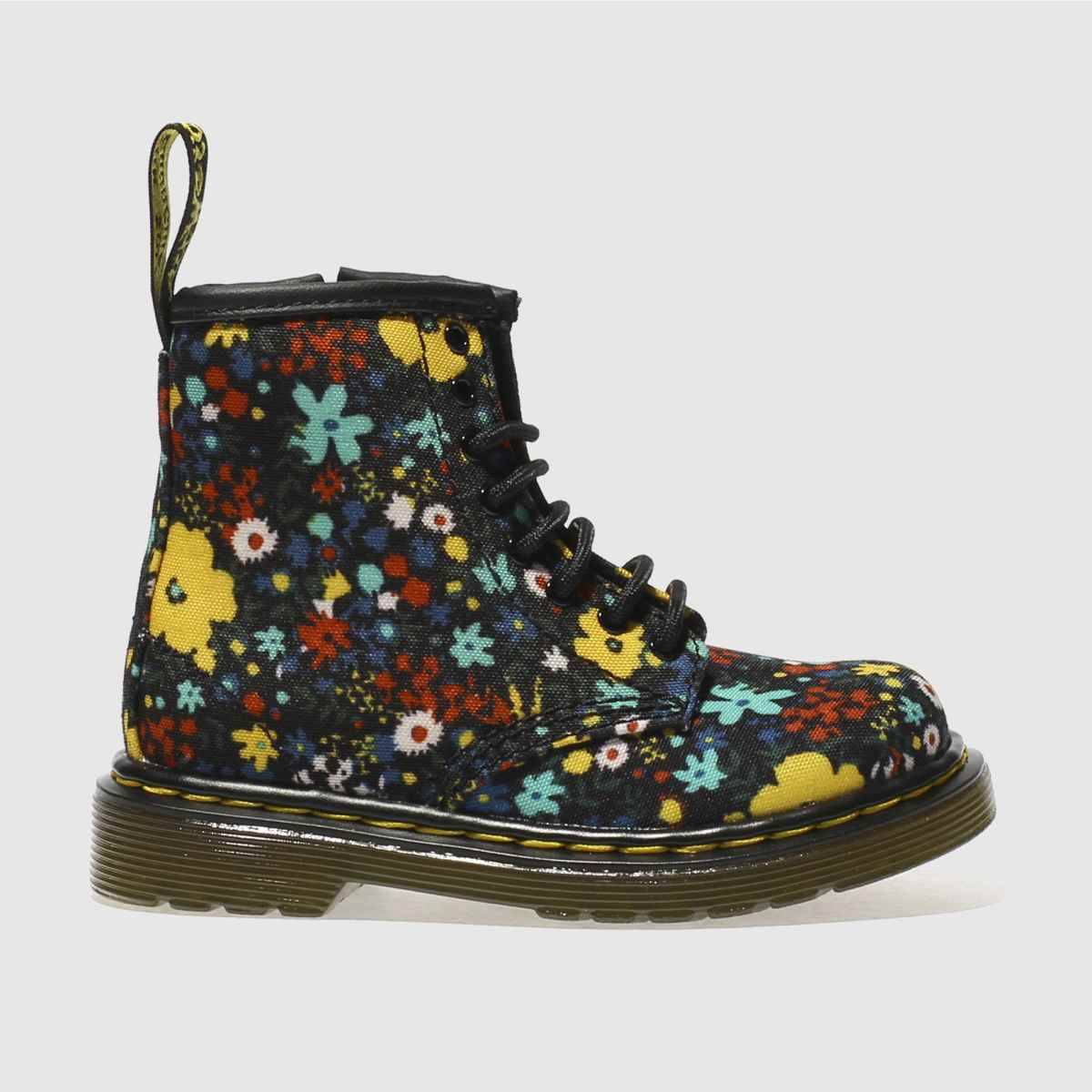 Dr Martens Black & Yellow 146o Wanderflora Girls Toddler Boots
