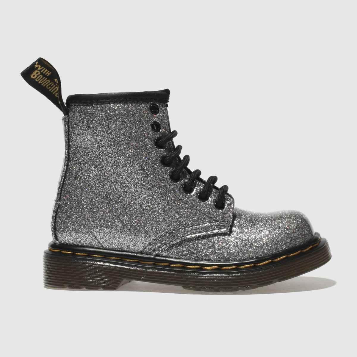 Dr Martens Silver 1460 Glitter Girls Toddler Boots