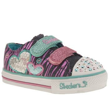 Skechers Multi Shuffle Tripple Time Girls Toddler
