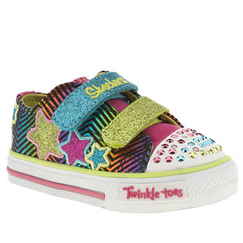 Skechers Multi Triple Up Girls Toddler