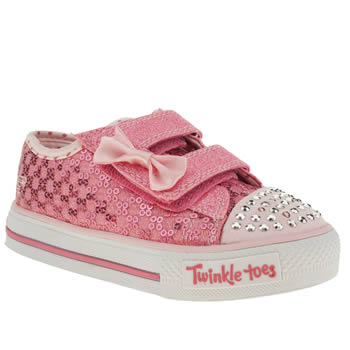 Skechers Pink Sweet Steps Girls Toddler