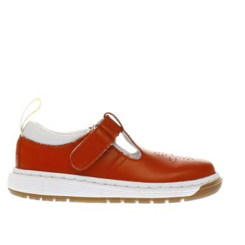 DR MARTENS RED DULICE T-BAR GIRLS TODDLER SHOES