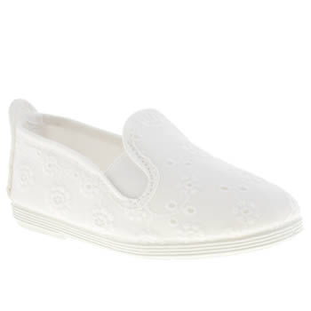 Flossy White Florals Girls Toddler