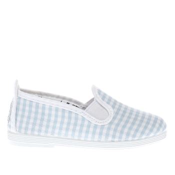 Flossy White & Pl Blue Anita Girls Toddler