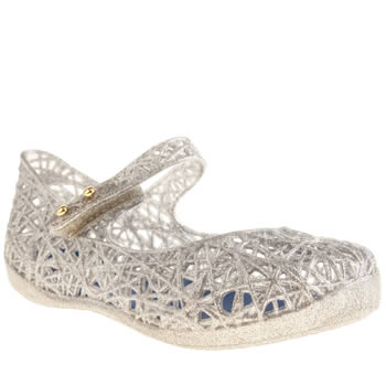 Melissa Silver Campana Zig Girls Toddler
