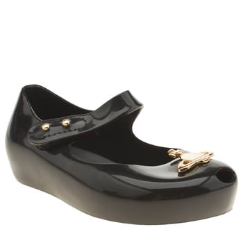 Melissa Black & Gold Vivienne Westwood Ultragirl Girls Toddler