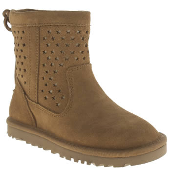Girls Ugg Australia Tan Kaelou Girls Toddler
