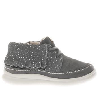 Clarks Grey CLOUD AKLARK Girls Toddler
