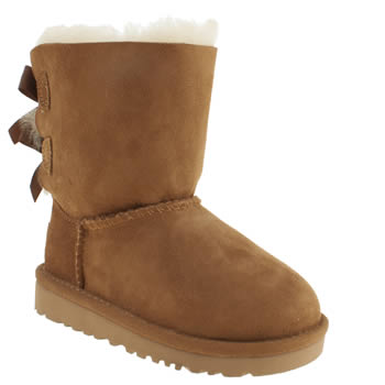 Girls Ugg Australia Tan Bailey Bow Girls Toddler