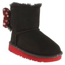 Ugg Australia Black Sweetie Bow Girls Toddler