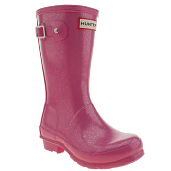 Hunter Pink Original Glitter Girls Toddler