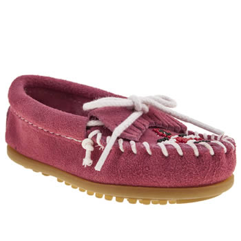 Girls Minnetonka Pink Thunderbird Ii Girls Toddler