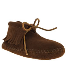 Toddler Brown Minnetonka Classic Fringed