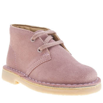 Clarks Originals Pale Pink Desert Boot Girls Toddler