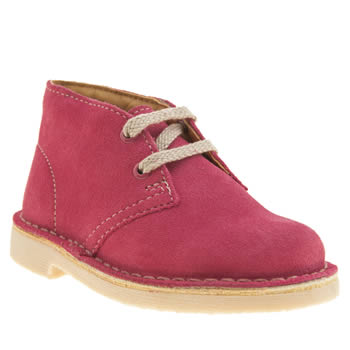 Clarks Originals Pink Desert Boot Girls Toddler
