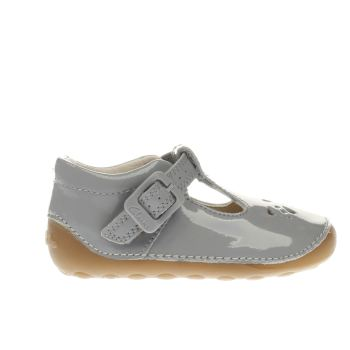 Clarks Light Grey Little Weave Girls Toddler