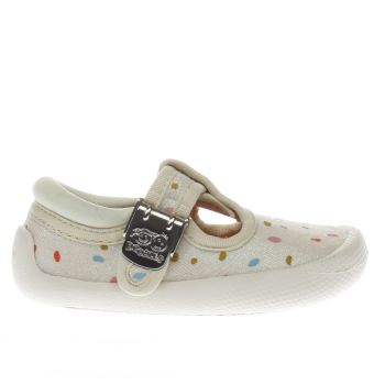 Clarks White Choc Cake Girls Toddler