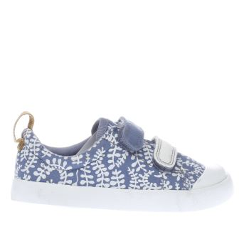 Clarks Blue Halcy Hati Fst Girls Toddler