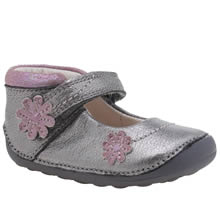 Clarks Silver Little Fizzi Girls Toddler