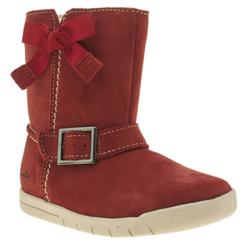 Clarks Red Crazy Fun Fst Girls Toddler