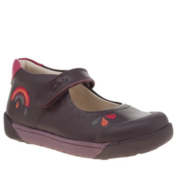 Clarks Purple Lilfolk Girls Toddler