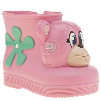 Melissa Pink Jeremy Scott Monkey Boot Girls Toddler