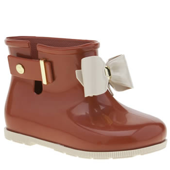 kids melissa  red sugar rain bow boots