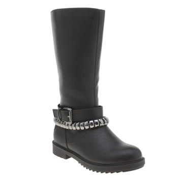 Lelli Kelly Black & Silver Nancy Alto Girls Toddler