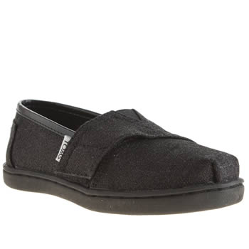 Girls Toms Black Glimmer Girls Toddler