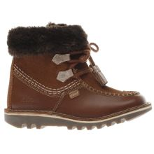 Kickers Brown Kick Fur Girls Toddler