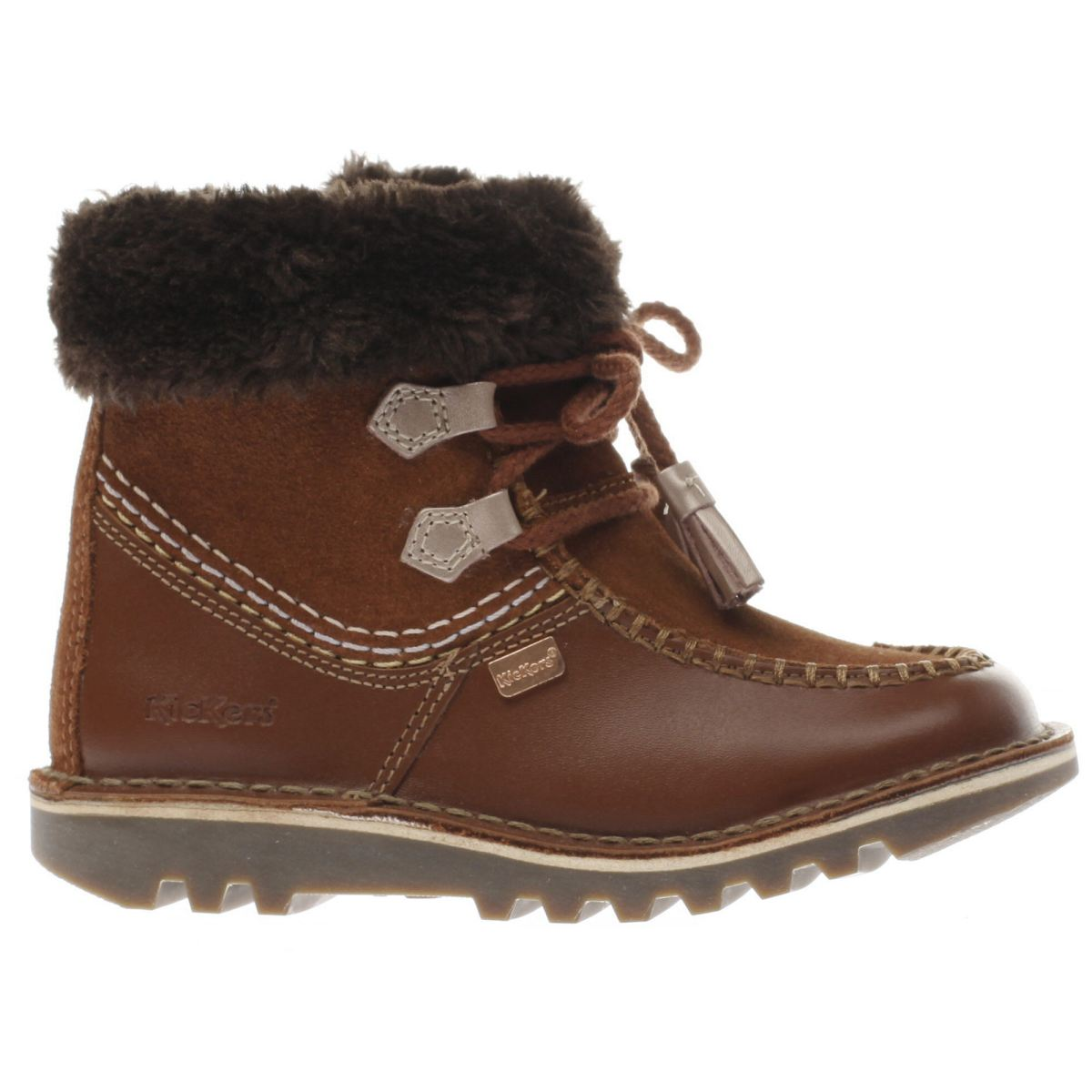 kickers brown kick fur Girls Toddler Boots