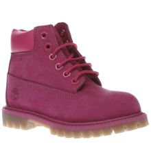 Timberland Pink 6 Inch Premium Girls Toddler