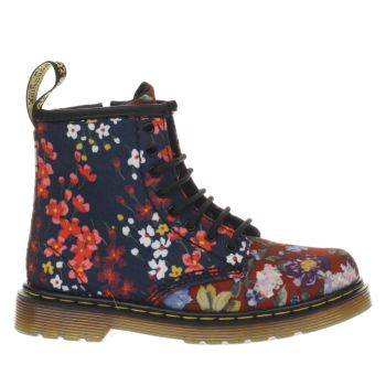 DR MARTENS MULTI FLORAL BROOKLEE GIRLS TODDLER BOOTS